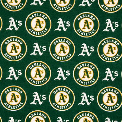 MLB Oakland Athletics Baseball Print 100% Cotton Fabric