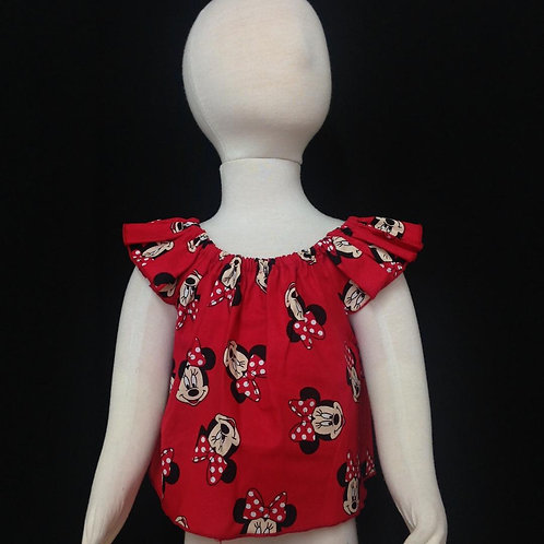 Blouses- Red Minnie Mouse