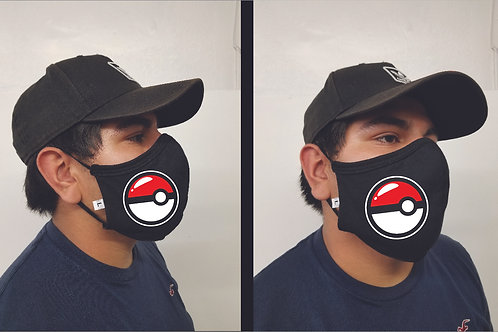 Black Mask (Pokeball) Face Mask