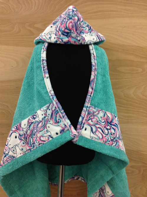 Hooded Towels- Unicorn/ Baby Blue