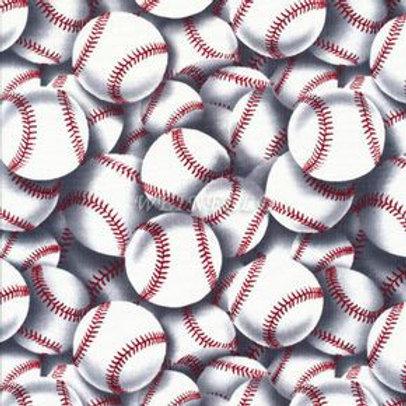 Tossed Baseball. Baseball fabric