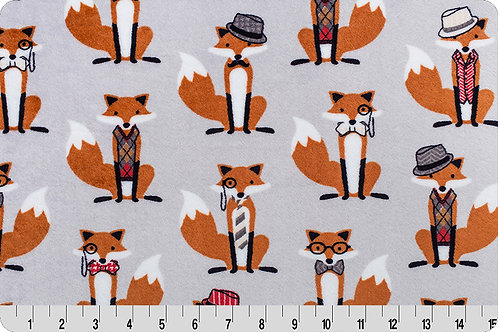 Foxes with Tuxes. Foxes. Fox Minky Fabric