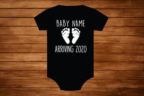 Baby Onesie. Baby Arriving 2020. Custom Onesie