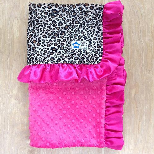 Baby blanket Tan Cheetah , Receiving blanket Cheetah .