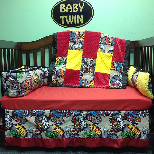 Super Hero Crib Set  ,Nursery Bedding Marvel,Crib set Marvel Avengers