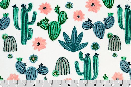Coral Cactus. Cactus. Cactus Minky Fabric