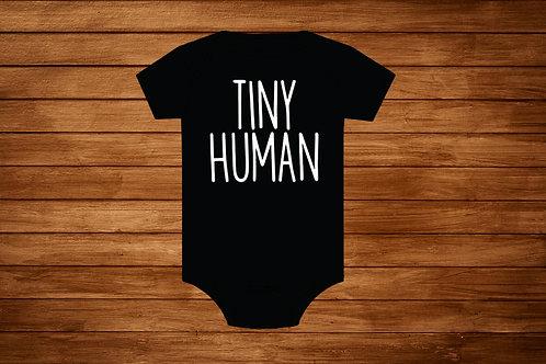 Baby Onesie. Tiny Human. Custom Onesie. Onesie Bodysuit.