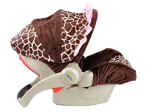 Infant Car Seat Cover-Giraffe/ Pink