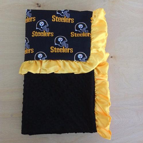 Baby blanket Steelers, receiving blanket Steelers.