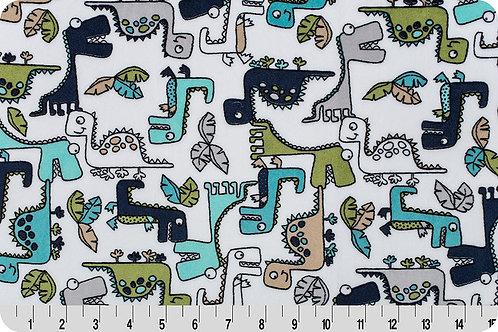 Roar Dinosaurs. Dinosaurs. Dinosaurs Minky Fabric