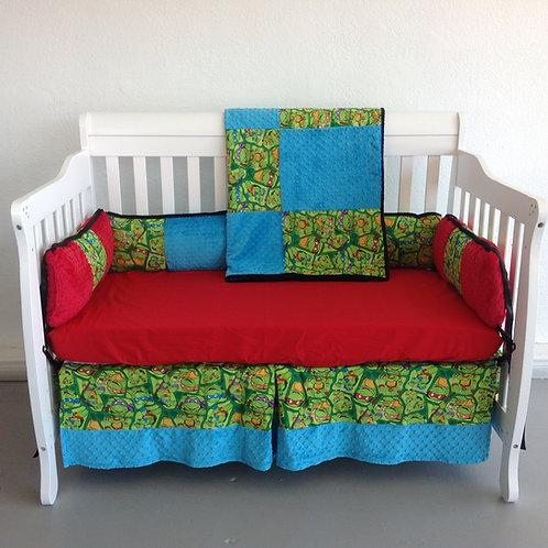 Crib set TMNT Ninja Turtles,Nursery Bedding Ninja Turtles,Home & Living.