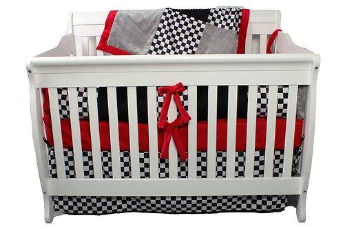 4pc Standard Checkers Crib Set. Red Checker Crib Set. Checkers