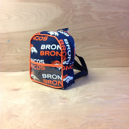 Kid's Mini Backpack- Broncos/ Orange