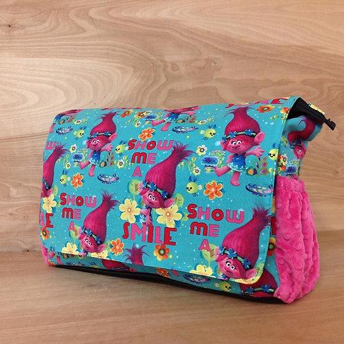 Diaper Bag- Trolls/ Fuschia
