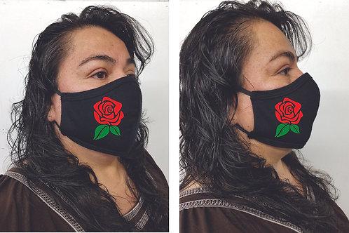Black Mask (Roses) Face Mask