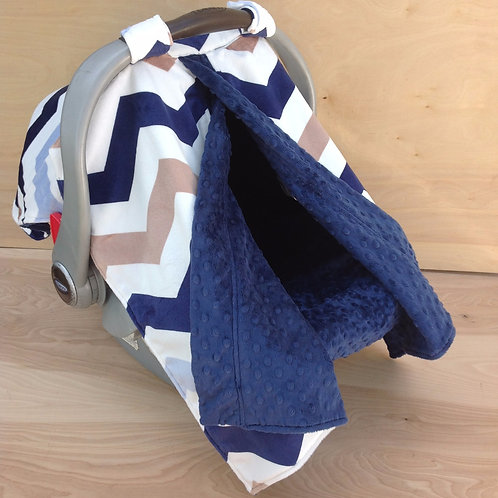 Navy/ Tan Chevron/ Navy
