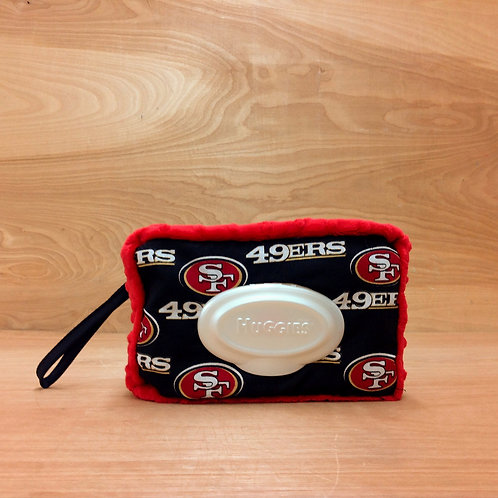 Wipe Case Covers- Black 49ers/ Red