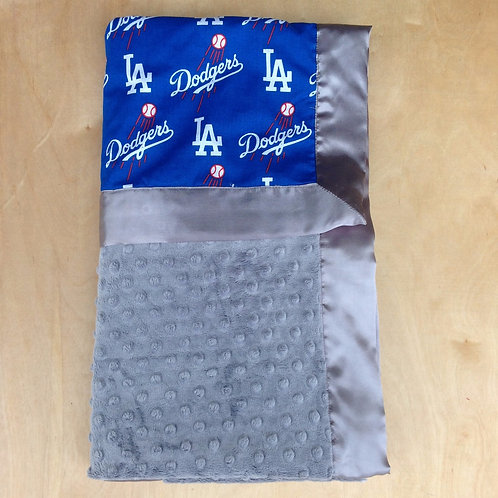 Baby blanket LA Dodgers , Receiving blanket Dodgers , Car seat blanket .