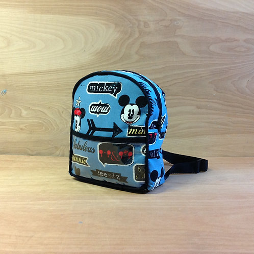 Kid's Mini Backpack- Retro Mickey and Minnie/ Black
