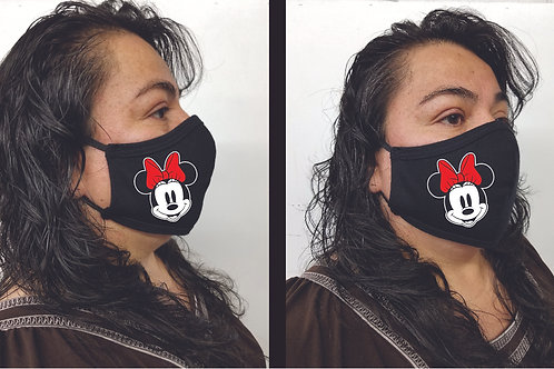 Black Mask (Minnie Mouse) Face Mask