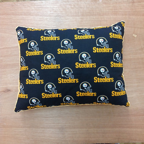 Travel Memory foam Pillow-Steelers/ Yellow
