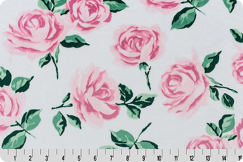 Pink Bloom Flowers. Pink Flowers. Pink Bloom Minky Fabric