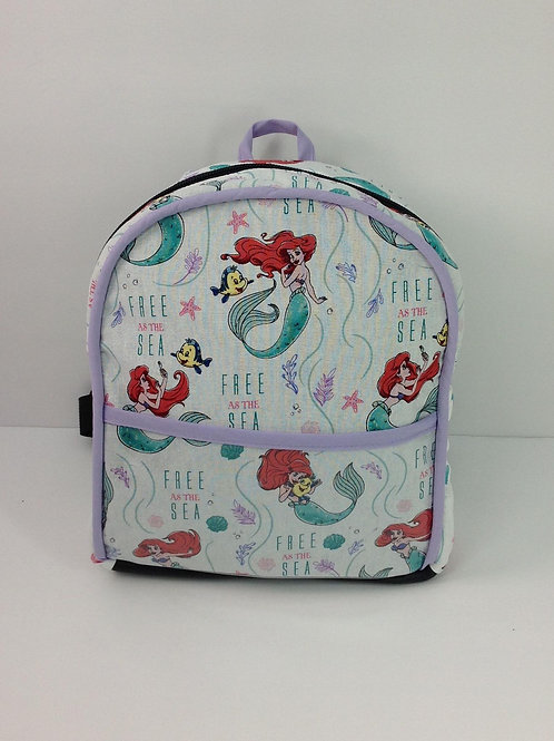 Kid's Mini Backpack- Little Mermaid/ Lavender