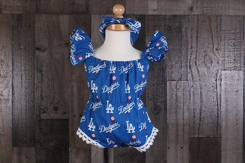 Dodgers Baby Romper