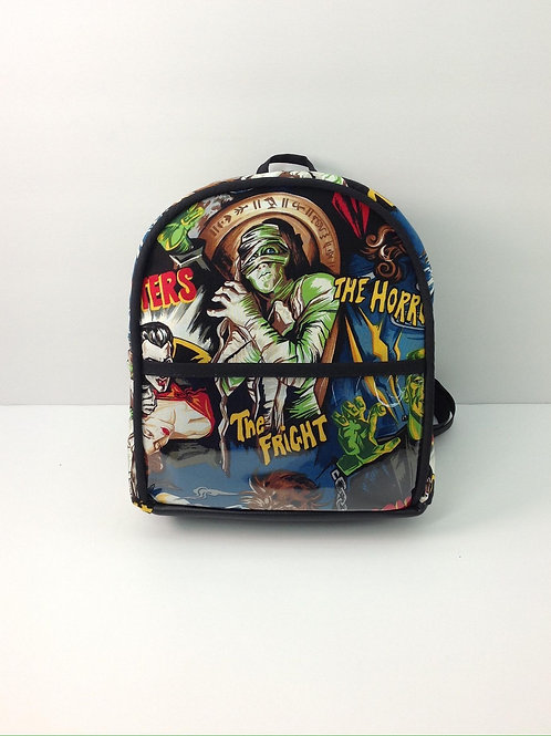 Kid's Mini Backpack- Hollywood Monsters/ Black