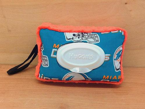 Wipe Case Covers- Dolphins/ Orange