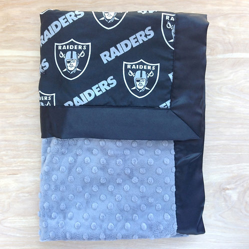 Baby blanket Raiders Grey , receiving blanket Raiders .