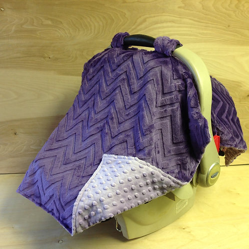 Embossed Purple Chevron/ Purple/ CL