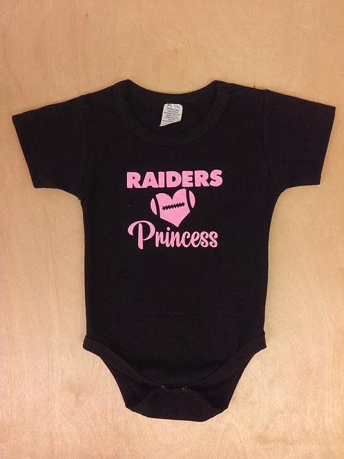 Girl Onesie- Raiders Princess,Raiders Pink,Girl Raiders,Bodysuit.
