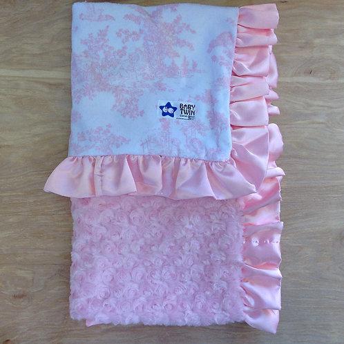 Receiving blanket Pink Toile , Receiving Blanket Kids .