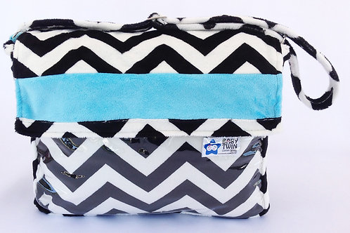 Blue and Black Chevron