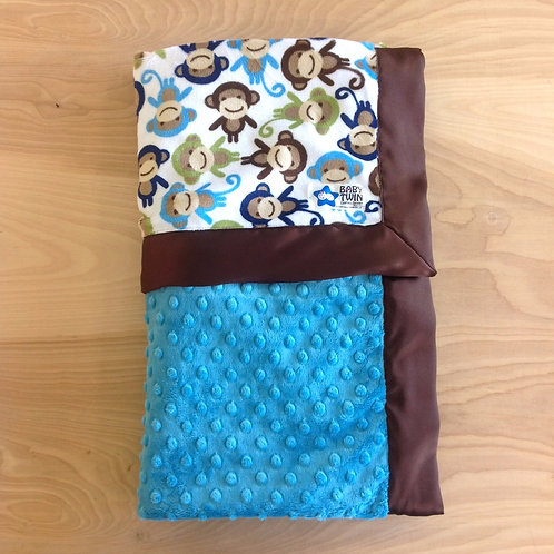 Baby blanket Monkeys , Receiving blankets, stroller blanket .