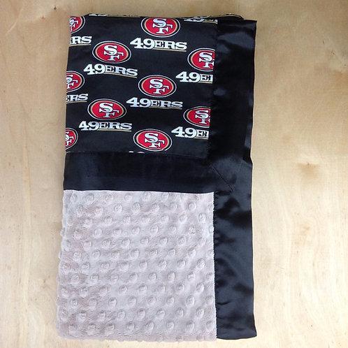 Baby blanket SF 49ers , Receiving blanket 49ers , Car seat blanket .