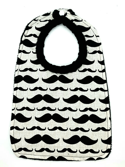 moustache baby bib