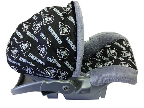 Infant Car Seat Cover-Raiders All Over