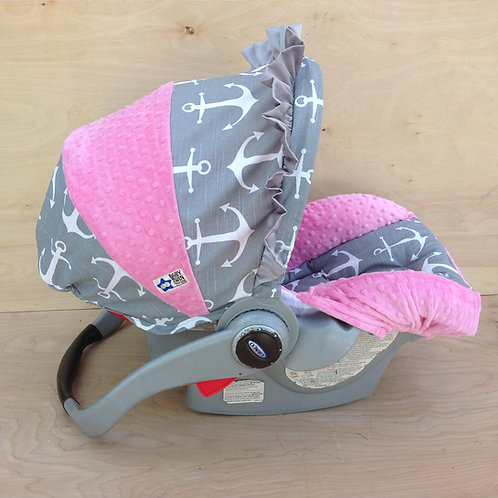 Grey Anchors/ Pink