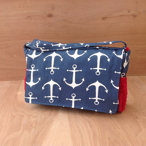 Navy Anchors/ Red