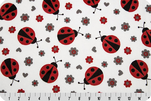Ladybugs and Flowers. Ladybugs. Ladybugs Minky Fabric