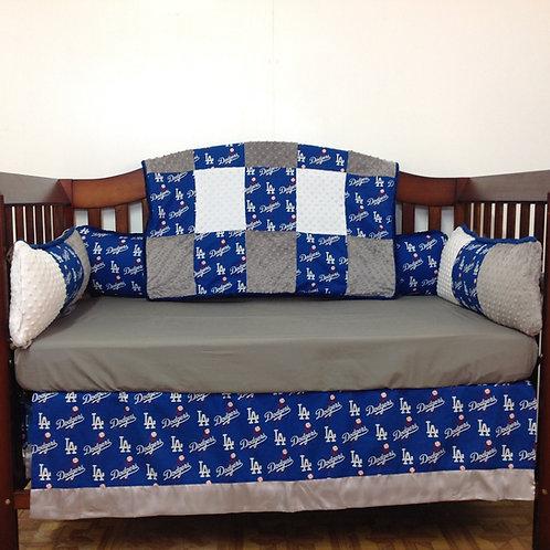 Dodgers Crib Bedding Set, La Dodgers Crib set,Home & Living,Dodgers.