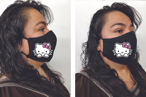 Black Mask (Hello Kitty) Face Mask