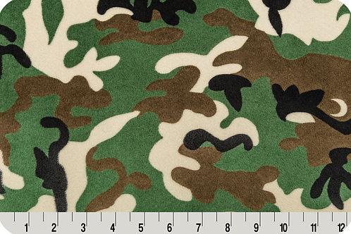 Army Camo. Camo. Army Minky Fabric