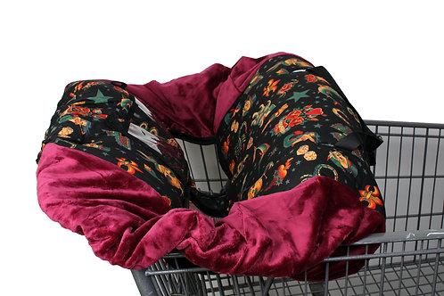 black tattoo shopping cart cover
