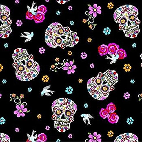 Flokoric Skulls. Glitter Skulls and Birds