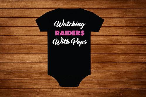 Baby Onesie Raiders.Raiders Girl Onesie,Girl Raiders,Pink Raiders,Raiders Onesie