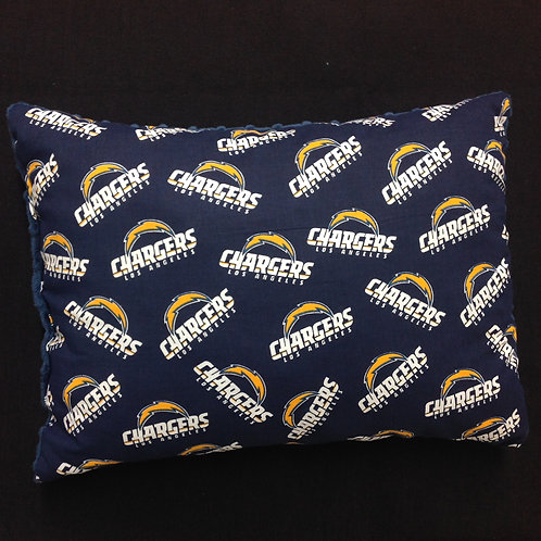 Travel Memory foam Pillow- Chargers/ Navy