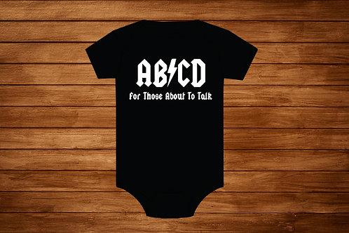 Baby Onesie. ABCD. Custom Onesie